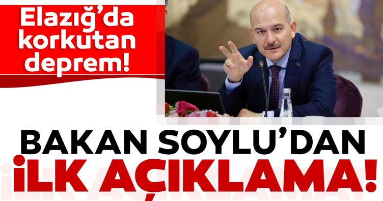 Son dakika haberi: Elazığ'daki depremin ardından İçişleri Bakanı Süleyman Soylu'dan ilk açıklama geldi!
