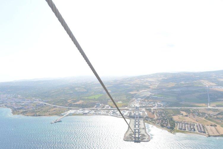 1915 Çanakkale Köprüsü'nde halat montajı başladı! Simgelerin köprüsünde sona doğru