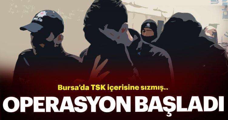 Bursa'da TSK içine sızan FETÖ'cülere operasyon:25 gözaltı