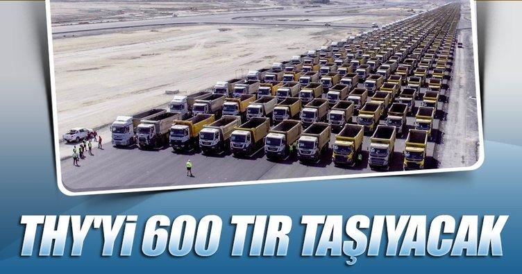 THY yeni evine 600 TIR'la taşınacak