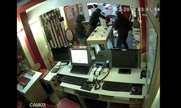 27 saniyede hırsızlık güvenlik kamerasında