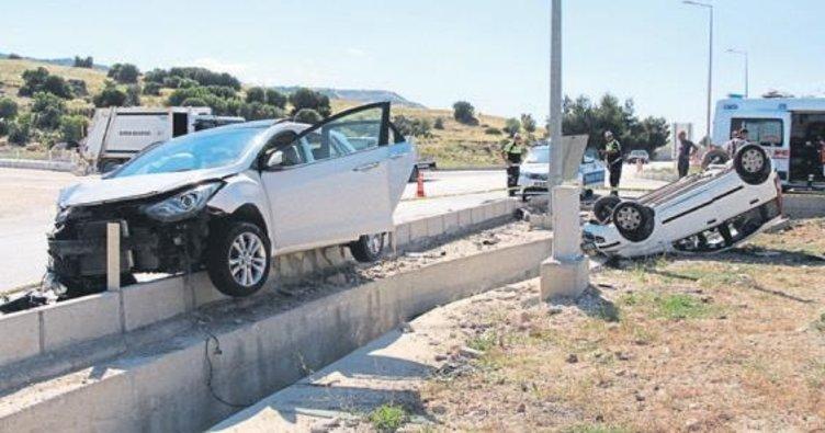 Burdur'da kaza: 4 kişi yaralandı