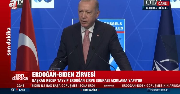 Son dakika: Başkan Erdoğan'dan Biden ile görüşme sonrası önemli açıklamalar: PKK/PYD'ye desteği sonlandırın