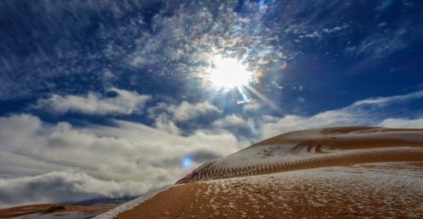 Sahra Çölü yine beyaza büründü