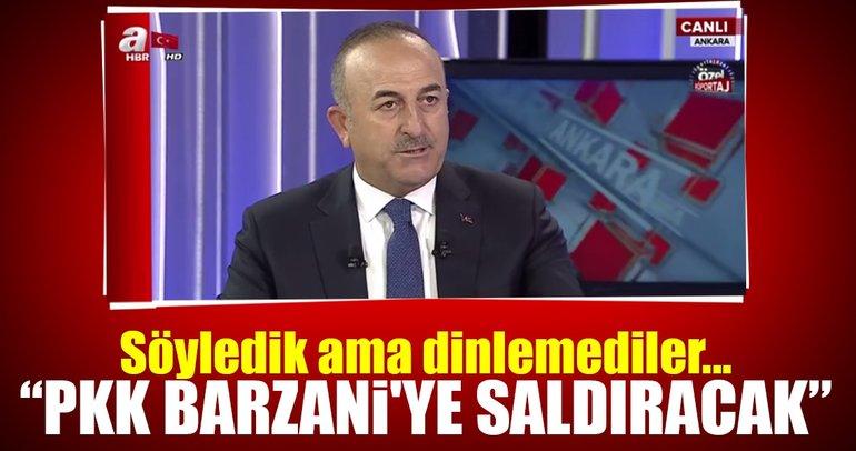 Bakan Mevlüt Çavuşoğlu'ndan son dakika Kuzey Irak açıklaması!