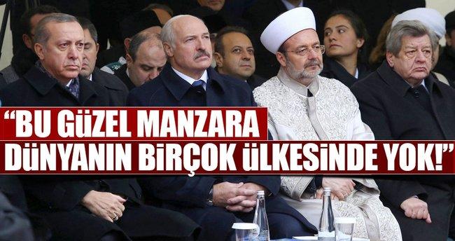 Cumhurbaşkanı Erdoğan Belarus'ta Minsk Camii'ni açtı