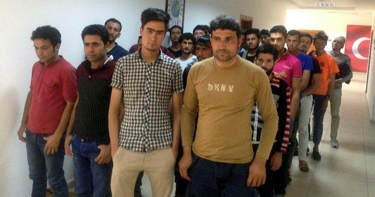 Siirt'te 47 kaçak göçmen yakalandı