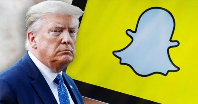 Sosyal medya platformu Snapchat, Trump'ın hesabını kapatacağını açıkladı