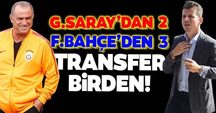 Galatasaray'dan 2 Fenerbahçe'den 3 transfer birden!
