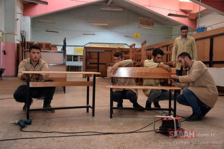 1 milyon lira cirosu olan Muş Mesleki ve Teknik Anadolu Lisesi'nde yaz tatili yok