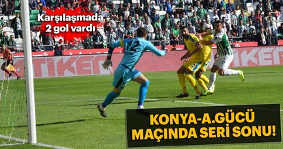 Konyaspor - Ankaragücü maçında seri sonu!