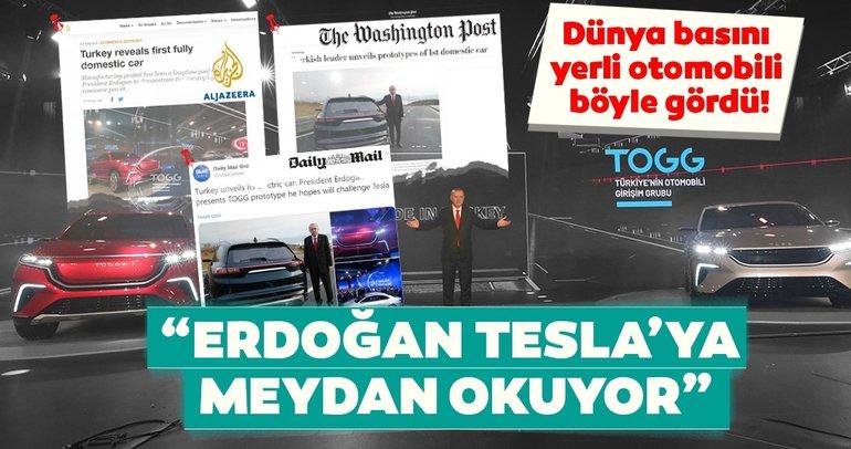 Yerli otomobil dünya basınında: Erdoğan, Tesla'ya meydan okuyor