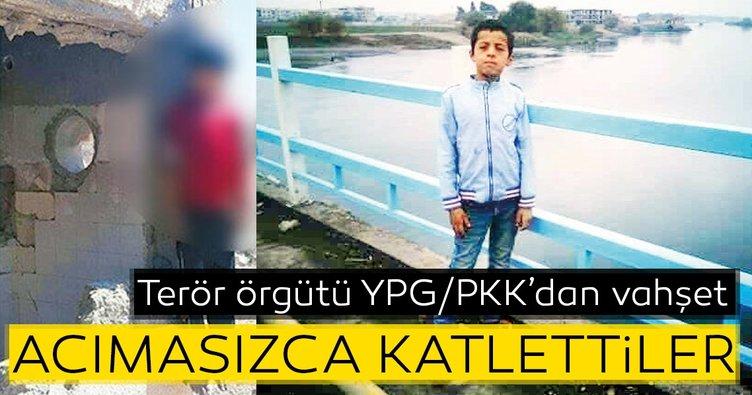 Terör örgütü YPG/PKK'dan vahşet! Çocukları acımasızca katlettiler
