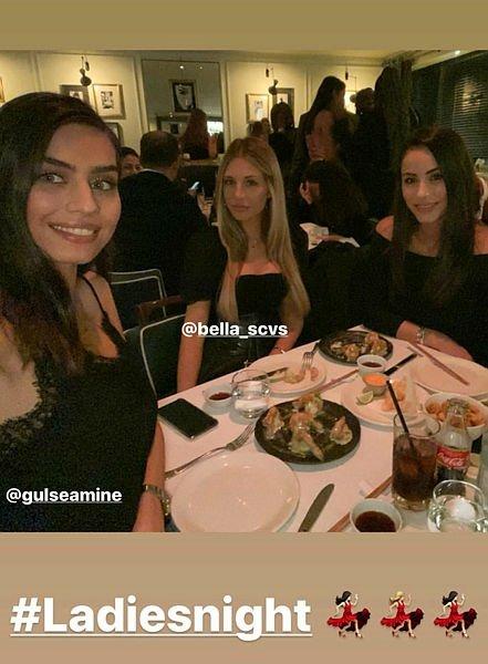 Amine Gülşe, Mesut Özil'in Arsenal'deki takım arkadaşlarının eşleriyle Londra'da buluştu
