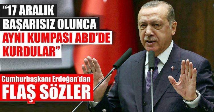 Cumhurbaşkanı Erdoğan: 17 Aralık başarısız olunca aynısını ABD'de kurdular