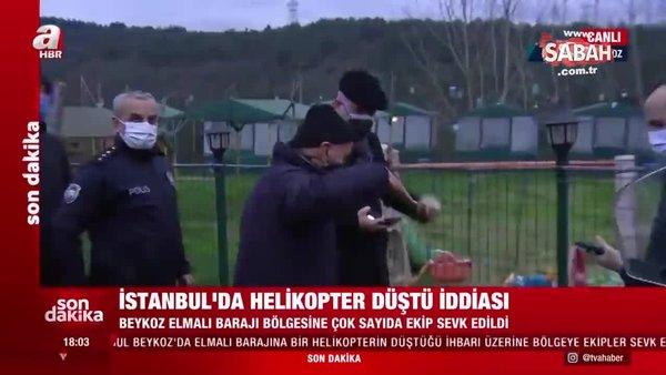 Son dakika: İstanbul'da helikopter düştü iddiası! | Video