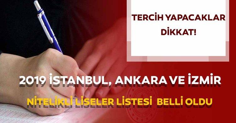 Nitelikli liseler ve yüzdelik dilimleri 2019! İstanbul, Ankara ve İzmir LGS (nitelikli) okullar listesi açıklandı