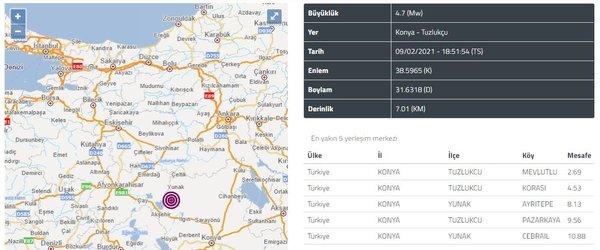Son Dakika Haberleri - Konya'da peş peşe şiddetli deprem! Çevre illerden de hissedildi...