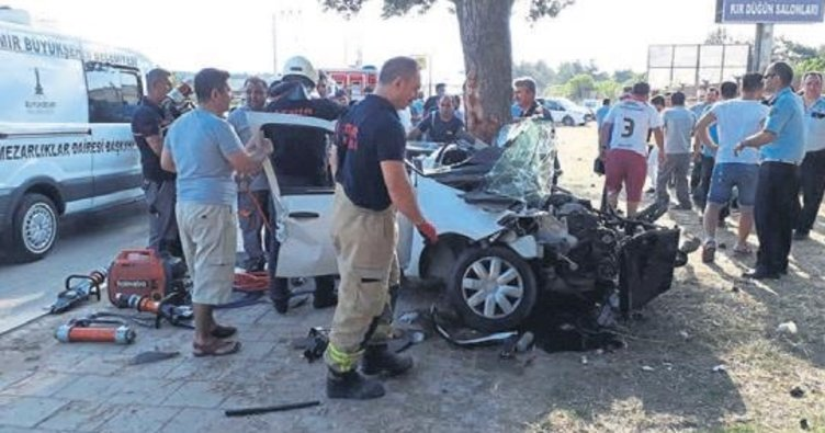 İzmir'de feci kaza: 1 ölü, 1 yaralı