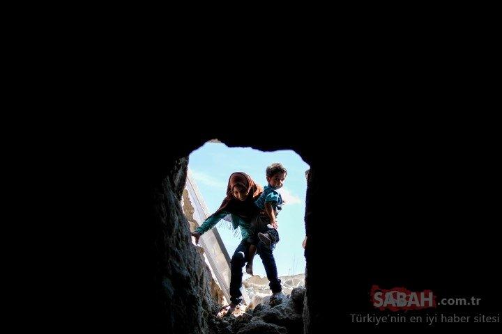 Tünellere sığınan insanlık