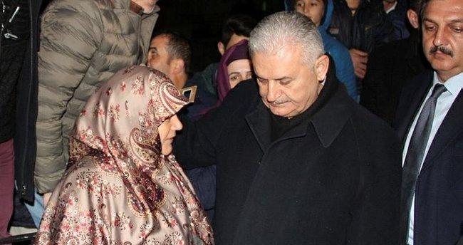 Başbakan Binali Yıldırım'dan şehit ailesine ziyaret!