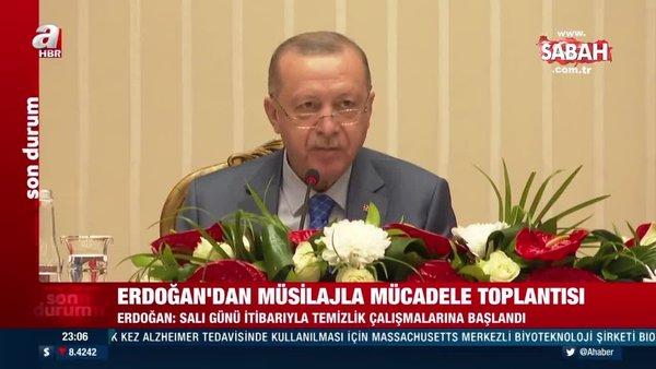 SON DAKİKA! Başkan Erdoğan'dan müsilajla mücadele toplantısı | Video