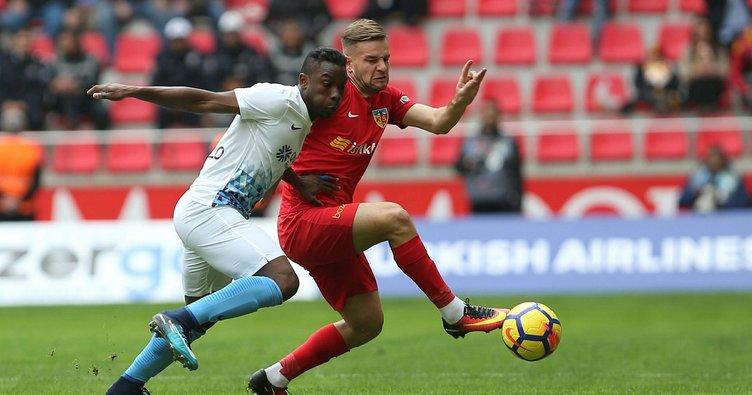 Kayserispor - Trabzonspor maçından gol sesi çıkmadı