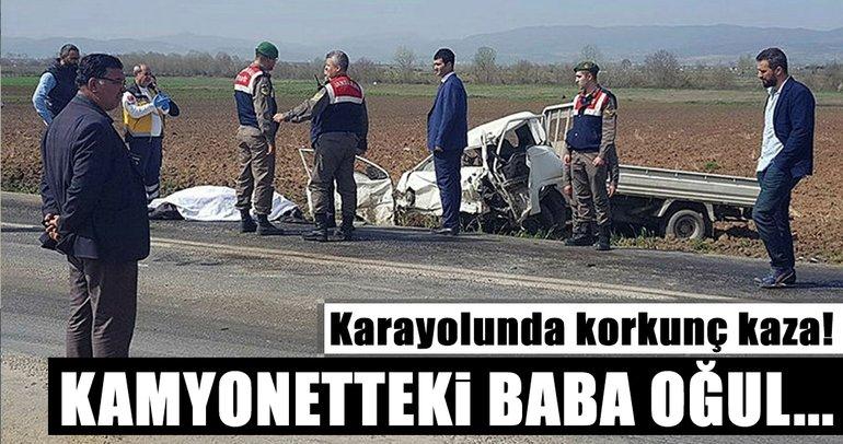 Bursa'da yola dökülen yağ faciaya yol açtı: Baba-oğul hayatını kaybetti