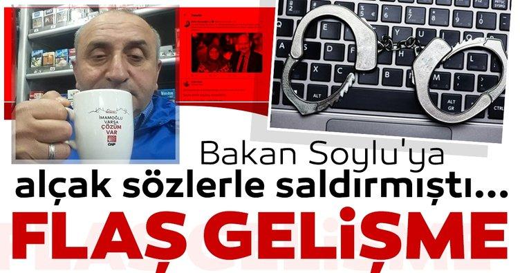 Son dakika: Bakan Soylu'ya hakaret soruşturması şüphelisi Cumhurbaşkanı'na Hakaretten tutuklandı