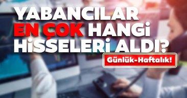 Borsa İstanbul'da günlük-haftalık yabancı payları 17/08/2020