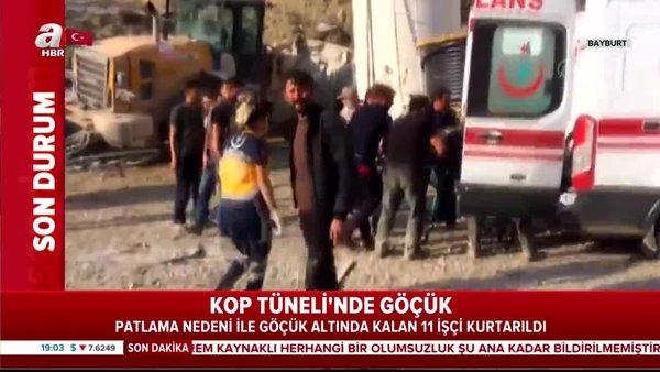 Son dakika! Kop Tüneli'ndeki göçükten 11 kişi kurtarıldı | Video