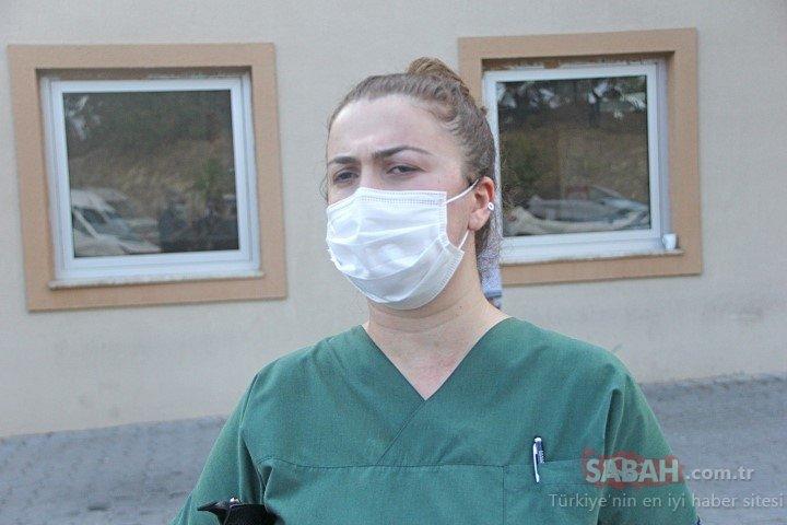 Otelde turistlere Maske tak diyen hemşire yüzüne terlik yedi