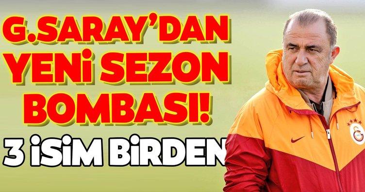 Galatasaray'dan yeni sezon bombası! 3 isim birden