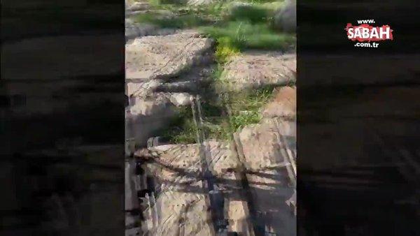 SON DAKİKA: Pençe-Yıldırım operasyonunda etkisiz hale getirilen 7 PKK'lı teröristin silah ve mühimmatları kamerada