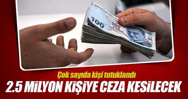 Sanal kumara 39 tutuklama! 2.5 milyon kişiye ceza