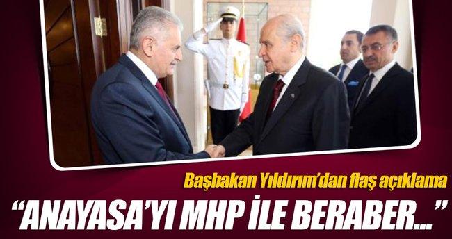 Yıldırım: MHP ile anayasa değişikliğini yapacağız