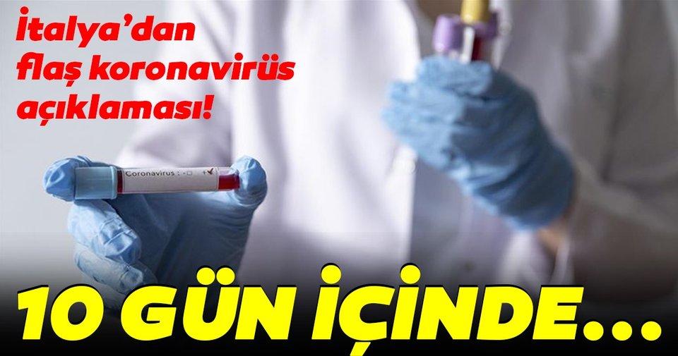 İtalya'dan son dakika coronavirüs açıklaması: Covid-19 vakalarında 10 gün içinde düşüş bekliyoruz