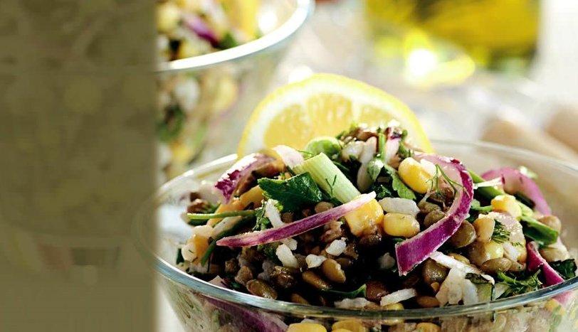 Yeşil Mercimekli Soğan Salatası