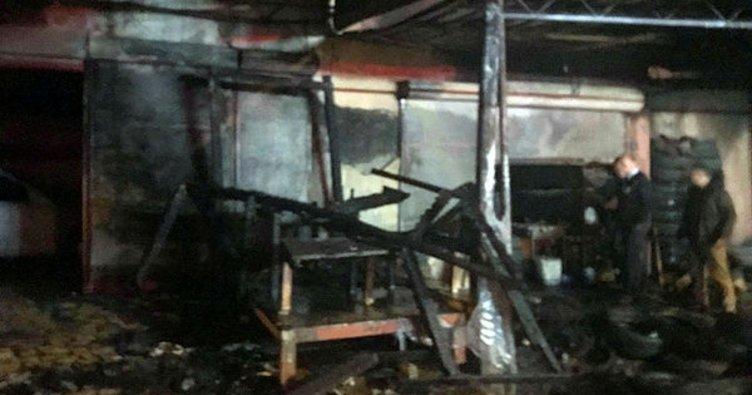 Alanya'da işyeri yangını korkuttu