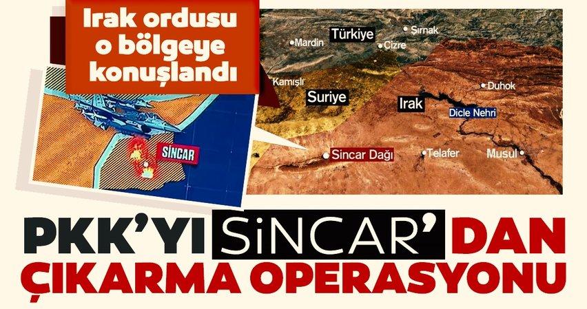 Son dakika: PKK'yı Sincar'dan çıkarma operasyonu! Irak ordusu o bölgeye konuşlandı