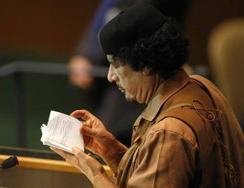 BM Genel Kurulu'nda Kaddafi şov