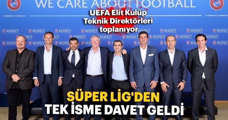UEFA Elit Kulüp Teknik Direktörleri toplanıyor! Süper Lig'den tek isim...