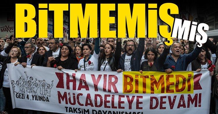 Taksim Dayanışması'nın 'BİTMEDİ' pankartı üzerine...