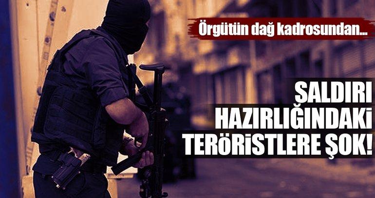 Saldırı hazırlığındaki teröristlere şok!