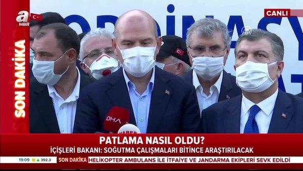 Bakan Süleyman Soylu ve Fahrettin Koca'dan havai fişek patlamasına ilişkin önemli açıklamalar! | Video