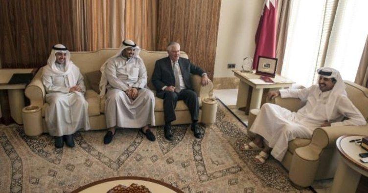 ABD Dışişleri Bakanı Tillerson, Katar Emiri Thani ile görüştü