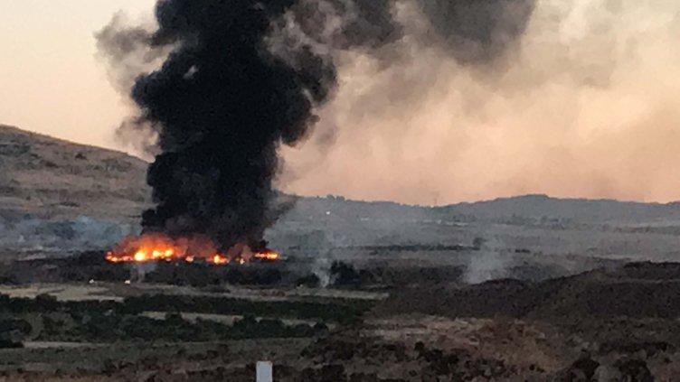 Son dakika: Askeri konteyner bölgesinde yangın çıktı