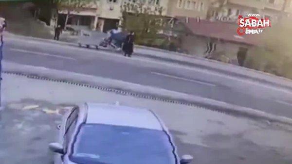 Aracın çarptığı hamile kadın bebeğini kaybetti. O anlar kamerada   Video