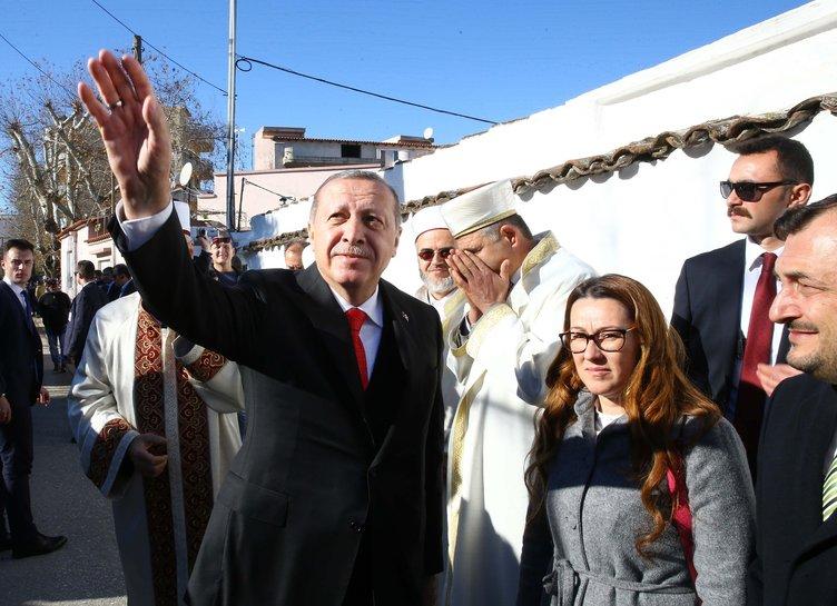 Cumhurbaşkanı Erdoğan'ı Gümülcine'de böyle karşıladılar