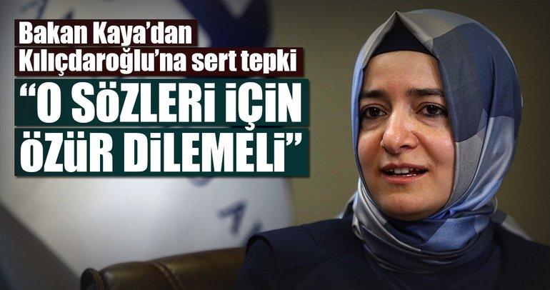 Bakan Kaya'dan Kılıçdaroğlu'na sert tepki